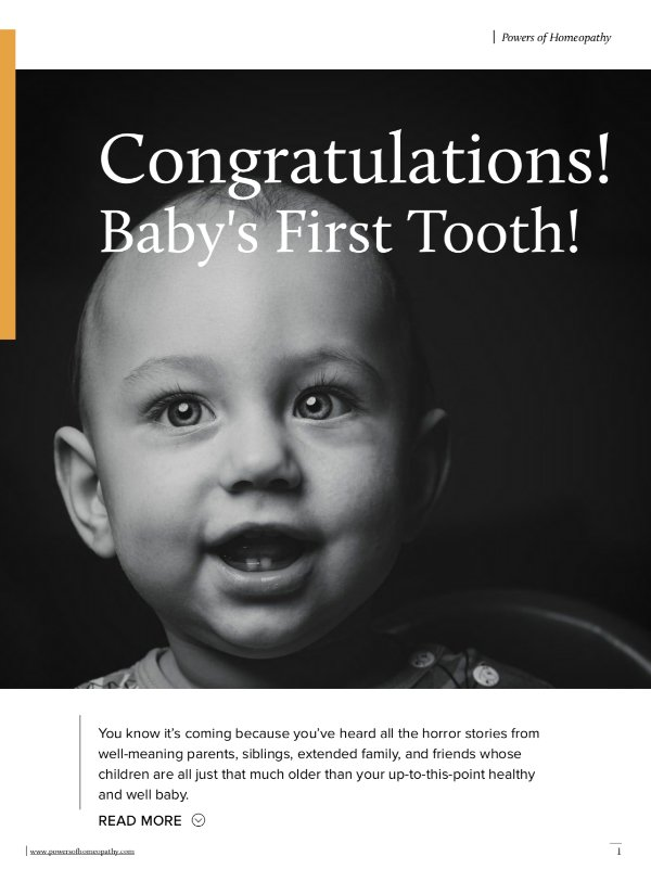 Homeopathy for Baby's First Tooth